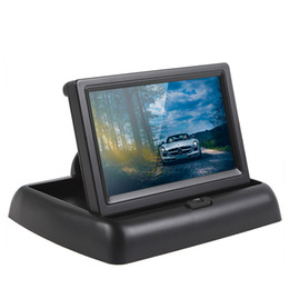 Wholesale Ir Frame - 4.3 Inch Foldable Car Monitor 12V TFT-LCD Display with 4 IR Light EU Car License Plate Frame Rear View Camera CMO_52A