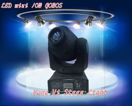 Wholesale Gobo Projectors Led - Wholesale- 2016 HOT led mini party light dmx gobo projector 10W led Moving Head Light Spot stage effect lighting