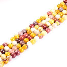 Wholesale Bead Eggs Jewelry - Top Quality Mokiate Beads Egg Yolk Natural Stone Round Loose Beads Ball 4 6 8 10 12mm Handmade Jewelry Making Bracelet Diy beads
