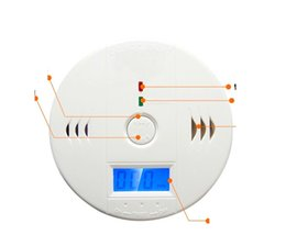 Wholesale Smoke Alarms Wholesale - 10pc Wireless Battery-operated gas alarm security system Alert Smoke Carbon Monoxide CO Detectors Gas Alarm 10A