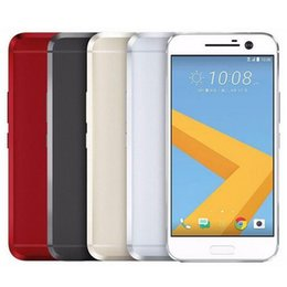 Wholesale Snapdragon Quad - Refurbished Original HTC 10 M10 4G LTE 5.2 inch Snapdragon 820 Quad Core 4GB RAM 32GB ROM 12MP Rapid Charger Android Phone DHL 5pcs