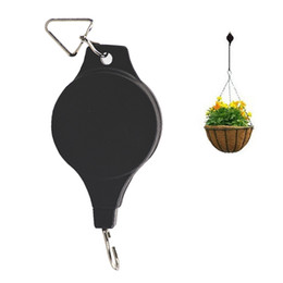 Wholesale Plastic Outdoor Plants - Creative Adjustable Telescopic Plant Hanger Holders Plant Pulley Holder Hooks for Hanging basket Indoor outdoor Decoration