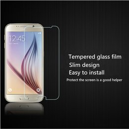 Wholesale S3 Matte - For Samsung S3 4 5 6 7 edge mini Tempered Glass film Screen Protector Ultra thin HD 9H Anti-shatter Paper Package
