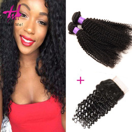 Wholesale Remy Hair Wholesale India - Wholesale Indian Hair Extension In India 8-30inch 3pcs Remy Raw Indian Curly Hair Real Natural Human Hair with Closure Free Shipping