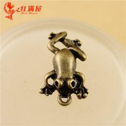 Wholesale Vintage Bronze Frog - 18*10MM Antique Bronze toad frog animal charm for bracelet, vintage metal dangle pendant for necklace, diy tibetan jewelry making findings