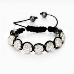 Wholesale Crystal Shambala - Wholesale- Fashion Shambhala Jewelry New Mix Colors Sales Promotion 10mm Crystal AB Clay Disco 9 Balls Shambala Bracelets