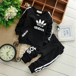 Autumn baby boy girl clothes Long sleeve Top + pants 2pcs sport suit baby clothing set newborn infant clothing Coupons