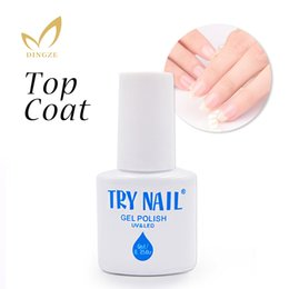 Wholesale Clear Base Coat - Wholesale-TRY Easy Soak Off Gel Nail UV LED Lamp Gel Polish Clear No Wipe Top Coat Base Coat Vernis Semi Permanent Gel Varnishes Gelpolish
