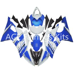 Wholesale Yamaha R6 Blue Fairing Kits - 3 gift New Fairings For Yamaha YZF-R6 YZF600 R6 08 15 R6 2008-2015 ABS Plastic Bodywork Motorcycle Fairing Kit Blue White cool style