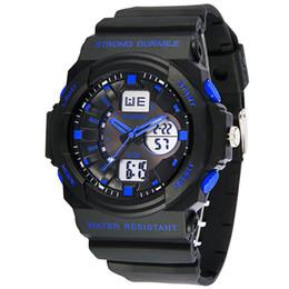 Аналоговые часы с несколькими тревогами онлайн-Synoke Fashion Multi Мужские часы мужские аналоговые цифровые светодиодные часы будильник Дата Спортивные военные наручные часы Подсветка наручные часы