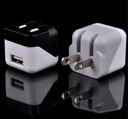 Wholesale Smart Folding Phone - Universal Colorful Fold Down Charger Plug EU US Plug USB Home AC Power Adapter Wall Charger Charging For Samsung Android Smart Phone