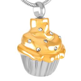 Cupcake Edelstahl Feuerbestattung Anhänger Halskette Memory Asche Andenken Urn Halskette von Fabrikanten