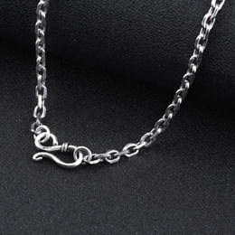 Wholesale Thai Chain - 925 Sterling Silver chain men necklace men jewelry 100% Pure Silver necklace for women Thai silver statement necklace N12
