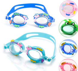 Wholesale Antifog Swimming Goggles - Antifog Waterproof Swimming Goggles Children Kids Boys Girls Diving Glasses with Retail package DHL free shipping