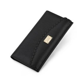 Wholesale Photo Ms - Ms Wallet female long Leather women's head layer cowhide slim wallet restoring ancient ways woven hand