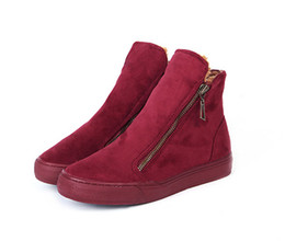 Wholesale British Shoes Women - Winter shoes new british style cotton boots side zipper boots female Martin boots shoes in winter Item No. XDX-024