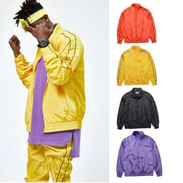 Wholesale Cool Optics - Wholesale- Cool Fashion streetwear Hip Hop 90s Stylish Womens Clothes For Men Fiber Optic Clothing Nylon Waterproof Jacket Windbreaker