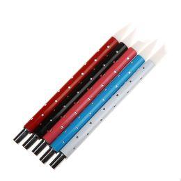 Herramientas de tallado de sellos online-5 Unids de Silicona Suave Nail Art Stamp Pen Brush Kit Talla de Cerámica de Arte Sculp UV Gel Building cepillos Set Herramientas de BRICOLAJE
