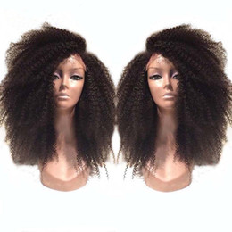 Wholesale best selling hair color - Best Selling full Brazilian Kinky Curly Wigs Lace Front Wig Glueless afro curly Full Lace Human Hair Wigs wity baby hair .