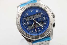Wholesale Hook Clocks - Luxury men's brand bre professional series E7936210-C787 quartz clock with digital display dial 42mm high quality titanium steel strap Free