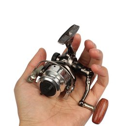 Wholesale Smallest Ice Fishing Reel - Mini Palm Size Metal Coil Ultra Light Small Spinning Reel For Ice Fish Pen Fishing Rod Molinete Pesca