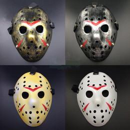 Wholesale Horror Paper Mask - New Jason vs Friday The 13th Horror Hockey Cosplay Costume Halloween Killer Mask Party Adult Mask Full Face Horror Vintage Mask