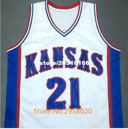 Wholesale Ku Jayhawks - Cheap custom Joel Embiid Kansas Jayhawks College Ku Basketball Jersey Embroidery Stitched Custom Any Name and Number
