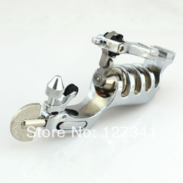 Wholesale Rotary Tattoo Machine Sunskin - Wholesale- Premium Silver Sunskin Rotary Tattoo Machine Liner Shader Combined