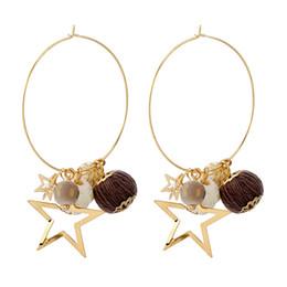 Wholesale Korean Handmade Earrings - Korean version of the popular Japanese fashion jewelry handmade Mao Xianqiu new star earrings earrings earrings ear ring