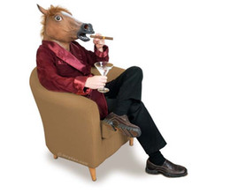 Wholesale Costume Theatre - A horse head with hair standing on end Halloween Costume Theatre novelty latex mask free shipping recommended