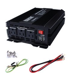 Wholesale Inverter Batteries - ERAYAK 1000W Power Inverter Three AC Outlets, Dual USB Charging Ports 3.1A, with Car Battery Clip Cable , multiple protections - 8099U