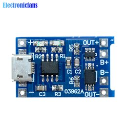 Wholesale Lithium Battery Charging Board - Wholesale- Automatic Protection! 5PCS Micro USB 5V 1A 18650 TP4056 Lithium Battery Charger Module Charging Board With Dual Functions