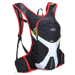 Wholesale Pink Bicycle Accessories - Wholesale- 15L Professional Cycle Backpacks Ultralight Bicycle Accessories Travel Shoulder Bag Hydration Bag Pack For Water Bag 516