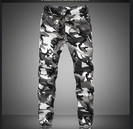 Wholesale Mens Khaki Trousers - 2017 M-5X Mens Jogger Autumn Pencil Harem Pants Men Camouflage Military Pants Loose Comfortable Cargo Trousers Camo Joggers