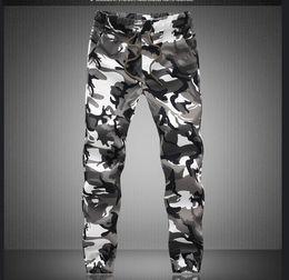Wholesale Mens White Drawstring Pants - 2017 M-5X Mens Jogger Autumn Pencil Harem Pants Men Camouflage Military Pants Loose Comfortable Cargo Trousers Camo Joggers
