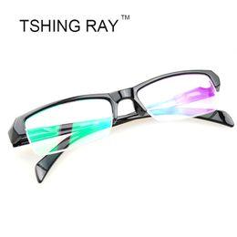 Wholesale Mens Reading Glasses - Wholesale- Mens Women Fashion Unisex Myopia Glasses Short Sight Eyewear Half Frame Blue Coated Reader Diopter Reading -1,-1.5,-2,-2.5,-3