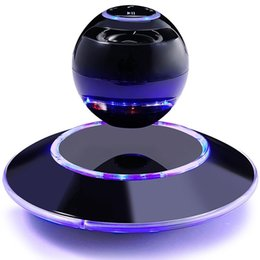 Wholesale Christmas Light Stand - Fancy Christmas Gift Smart Wireless Speaker Bluetooth Magnetic Levitating Speakers with Touch Buttons and Led Light