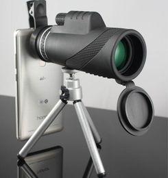 Wholesale Military Monocular - Monocular 40x60 Powerful Binoculars High Quality Zoom Great Handheld Telescope lll night vision Military HD Professional Hunting