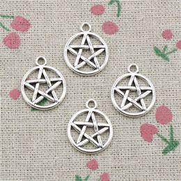 Wholesale pentagram charms - 96pcs Charms star pentagram 16mm Antique Silver Pendant Zinc Alloy Jewelry DIY Hand Made Bracelet Necklace Fitting