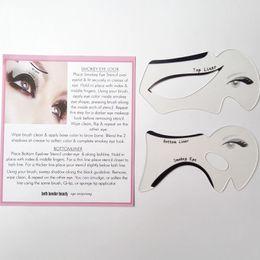 Modello perfetto sopracciglio online-2pcs Perfect Cat Eye Smokey Eye Makeup Eyeliner Modelli Template Top Fondo Eyeliner Card Strumenti ausiliari Sopracciglia Stencil ZA2024