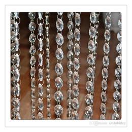 Decorazioni di tende diamanti online-La tenda di cristallo di vendita più alta chiara borda la catena ghirlanda di cristallo acrilica che appende la decorazione del partito del candeliere del diamante di Diamond Decorazione del partito DHL libero