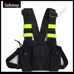 Wholesale Kenwood Way Radios - 2017 latest new design Nylon Two way radio pouch Chest Pack walkie talkie bag Holder Carrying Case for kenwood and UV-5R