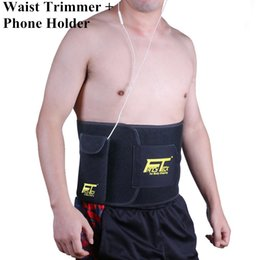 Wholesale Mobile S Bag - FANCYTECK Waist Trimmer for Men & Women Slimming Belt Sweat Belt Sport Body Shaper S M L Size with a Free Mobile Phone Bag