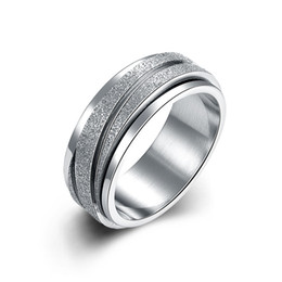 Wholesale Wholesale Fashion Jewelry Usa - 316L Titanium Stainless Steel Men's Ring USA Size 6# 7# 8# 9# Wide Finger Ring Unisex Fashion Personality Cool Party Jewelry Gifts Wholesale