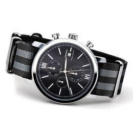 Wholesale Sinobi Sport - SINOBI Men Sports Military Watches with NATO Nylon Watchband Male Chronograph Quartz Wristwatch Waterproof James Bond 007 Clock