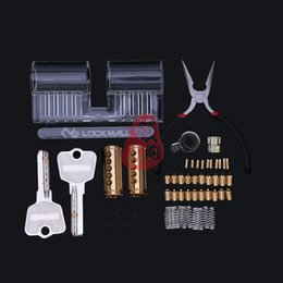 Wholesale Beads Tool - New Arrival Disassembly Lash bead Transparent lock with 1pcs Wrench Locksmith Training Tools