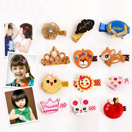 Wholesale Miao Embroidery - Brand new Children 's headdress boutique embroidery full hairpin cloth small hairpin card FJ147 mix order 60 pieces a lot