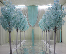 Wholesale Flower Aisle Wedding - New Arrival Cherry Blossoms Tree Road Leads Wedding Runner Aisle Column Shopping Malls Opened Door Decoration Stands