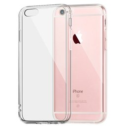 Wholesale Slim Iphone Sleeve - Case For Apple iPhone 5 5S 6 6s 7 Plus Clear TPU Cases Slim Crystal Silicone Protective sleeve Cover Transparent Covers Soft hard