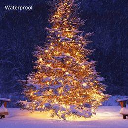 luzes da guirlanda xmas Desconto DZ10 50 M 400 Leds Fada LED String Luz Ao Ar Livre À Prova D 'Água AC220V Natal Corda Garland Para Festa de Natal de Casamento de Natal